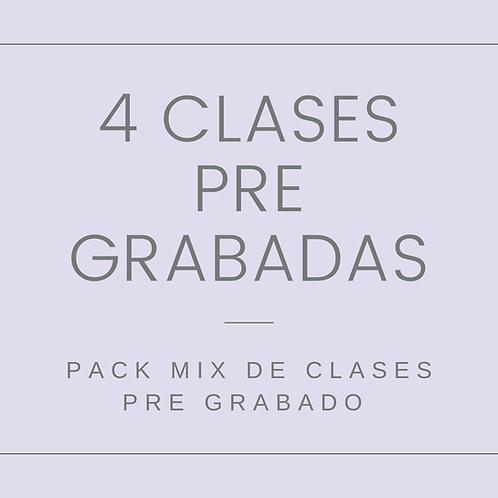 Pack pre grabado 4 Clases