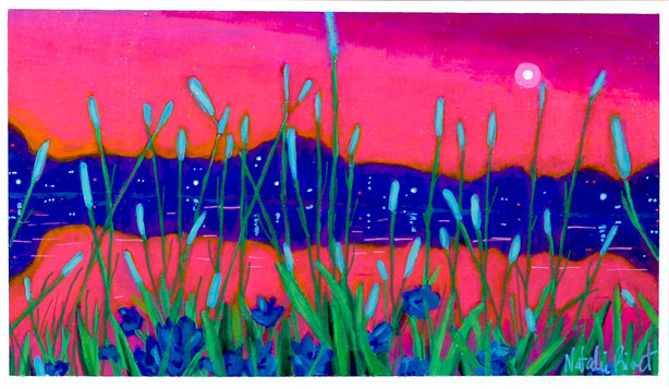 Kindling Twilight No.59, Dows Lake looking at the Queen Elizabeth Driveway