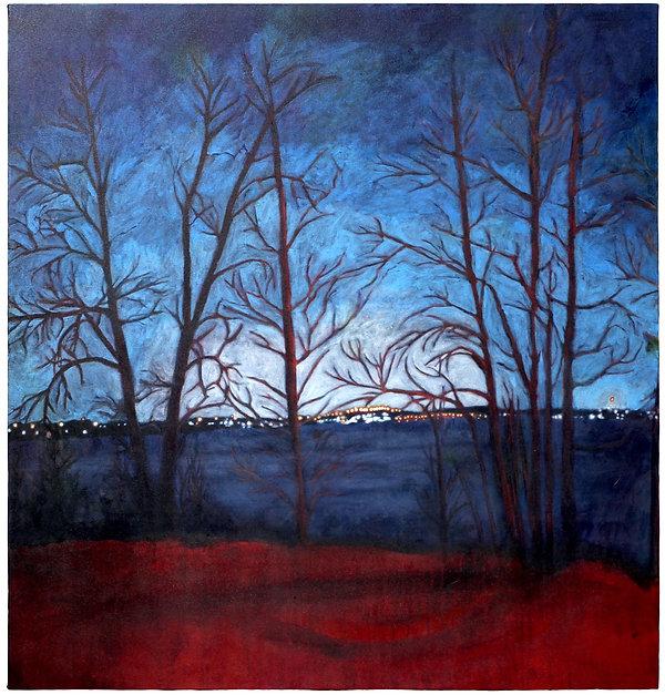 Kindling Twilight No.17 Britannia Beach Acrylic on wood, 36 x 38 x 1.5 inches, 2021