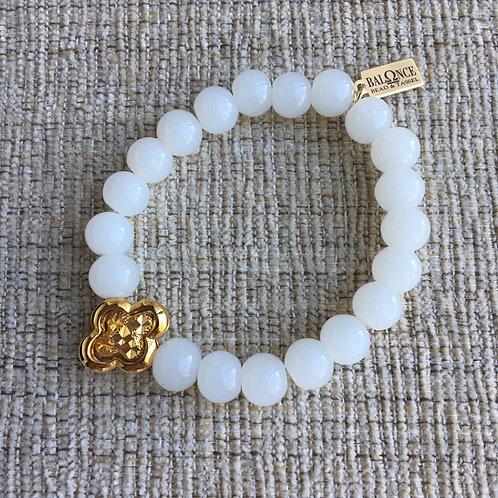 White Jade Clover Bracelet