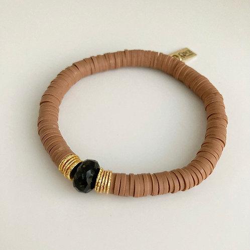 Dark Nude & Black Onyx Bracelet