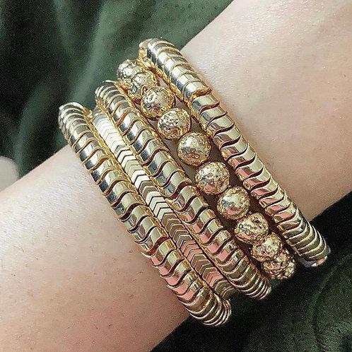 Golden Stacking Bracelets