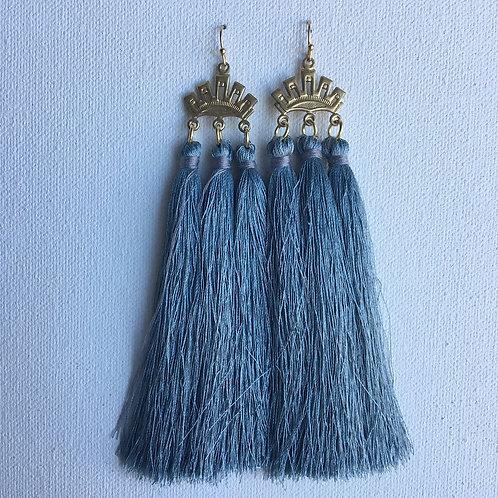 Slate Vintage Triple Crown Earrings