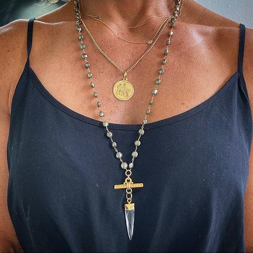 Pyrite & Quartz Necklace