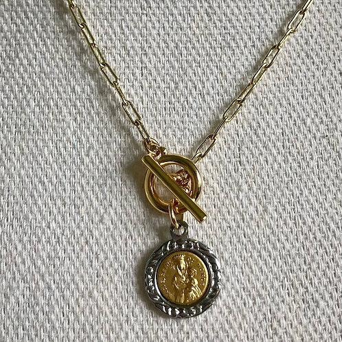 Vintage Sacred Mother & Child Necklace