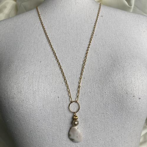 Jasper & Mantra Pearl Necklace