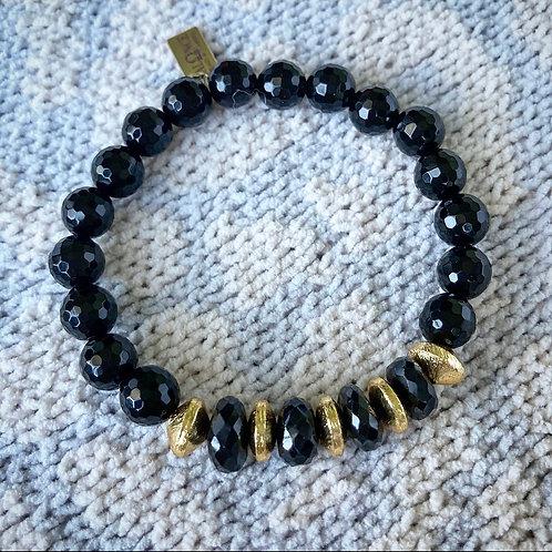 Mixed Black Onyx Accent Bracelet