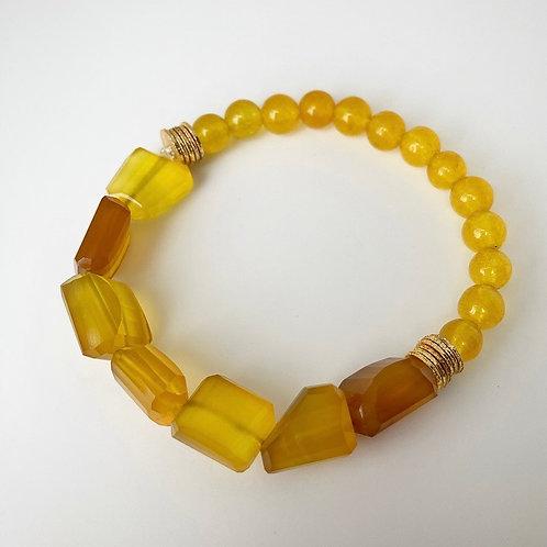 Yellow Chalcedony Bracelet