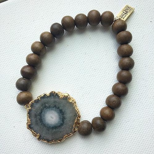 Gray Wood & Stalactite Bracelet II