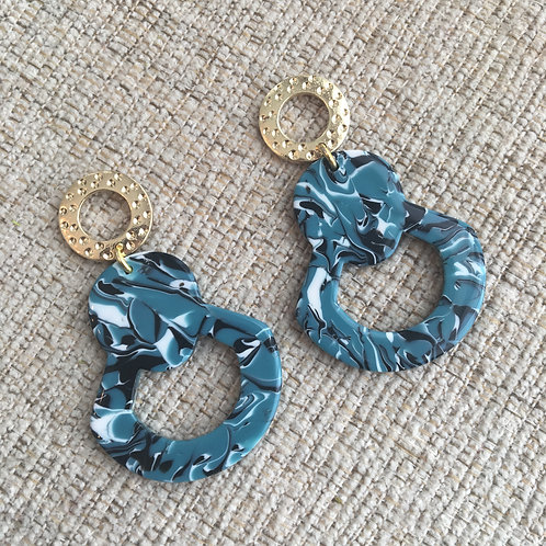 Turquoise Marble Earrings