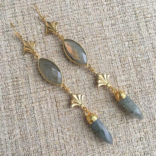 Vintage Nola Labradorite Earrings