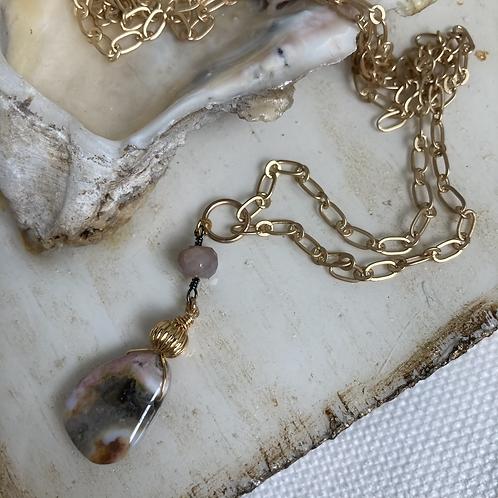 Jasper & Mystic Moonstone Necklace
