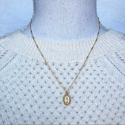 Vermeil Gold Virgin Mary Necklace