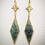 Thumbnail: Emerald Fleur•de•lis Earrings