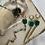Thumbnail: Green Onyx & Multi Gem Lariat Necklace