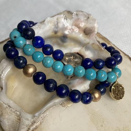 Turquoise & Lapis Stack