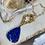 Thumbnail: Matte Gold & Lapis Necklace