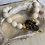 Thumbnail: Cream Coral Vermeil Coin Bracelet