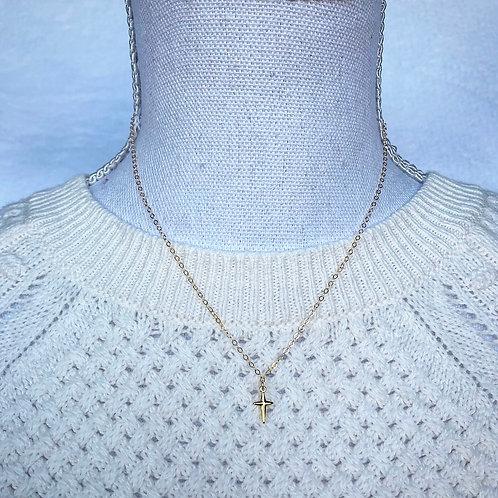 Vermeil Gold Cross Necklace