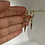 Thumbnail: Turquoise Stud Pavè Spike Huggie Earrings