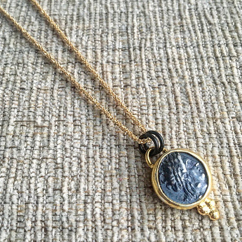 Mixed Metal Coin Necklace