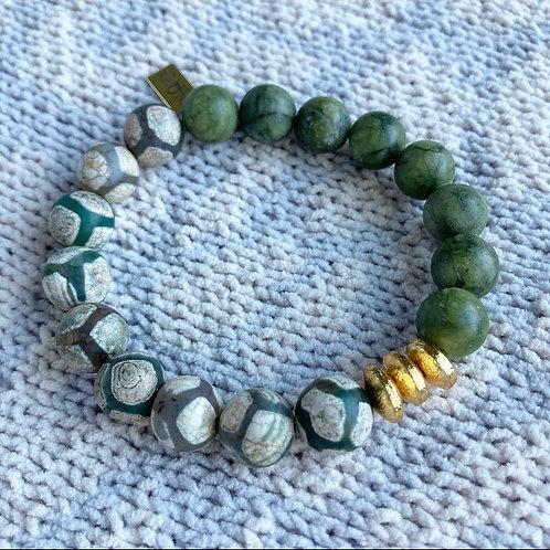 Olive Agate Bracelet