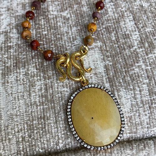 Mookaite & Sapphire Signature Necklace