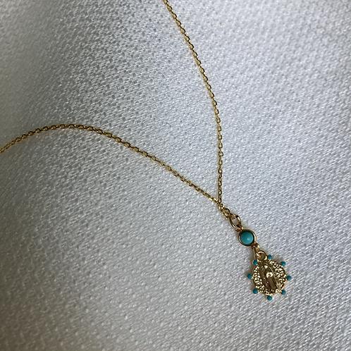 Guadalupe Turquoise Enameled Necklace