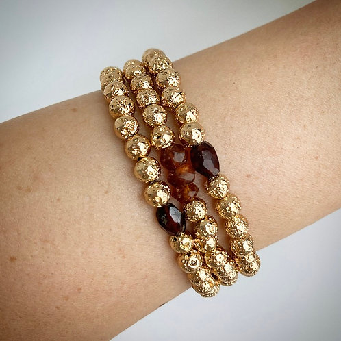 Garnet Stacking Bracelet