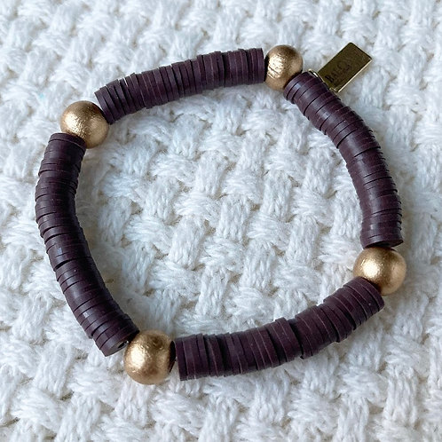 Chocolate Vinyl Accent Bracelet