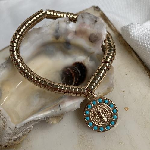 Turquoise Golden Wave Benedict Bracelet