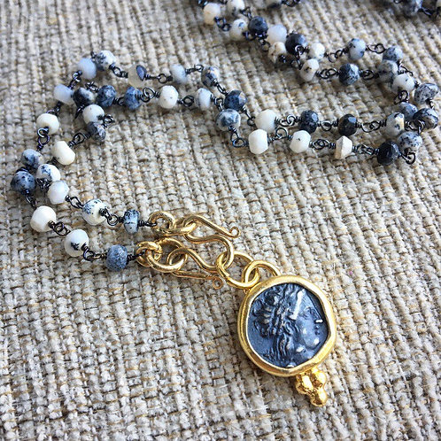 Dendrite Opal & Coin Signature Necklace