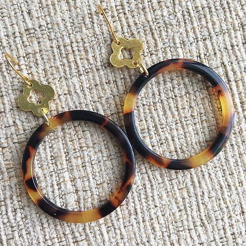 Tortoise & Clover Earrings