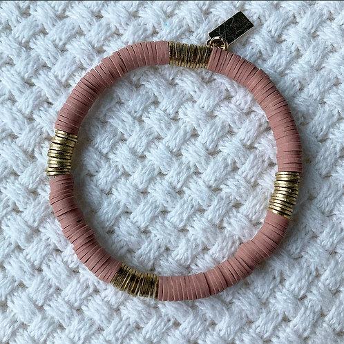 Rose Vinyl Accent Bracelet
