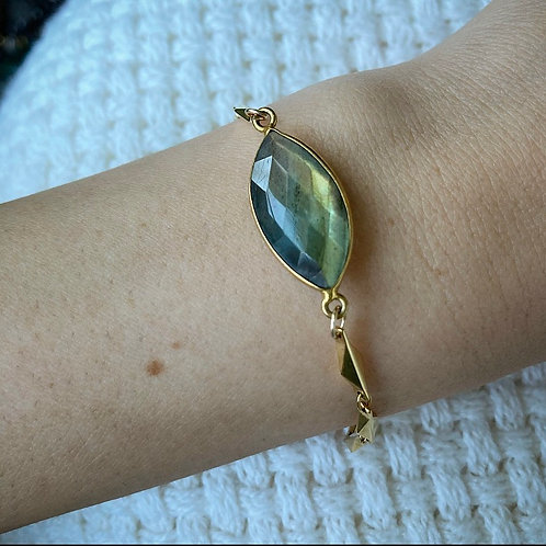 Marquis Labradorite Bracelet