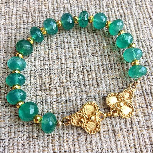 Bali Bracelet in Green Onyx