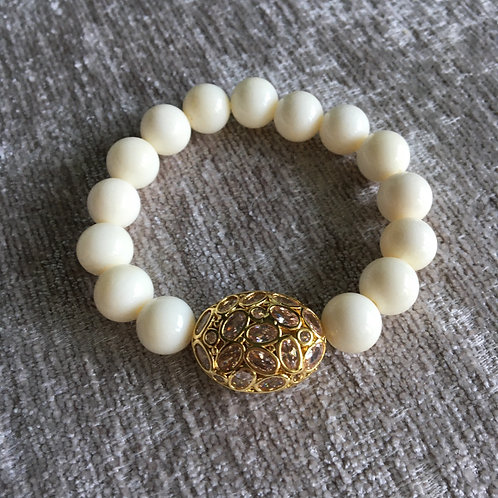 White Coral Polki Bracelet