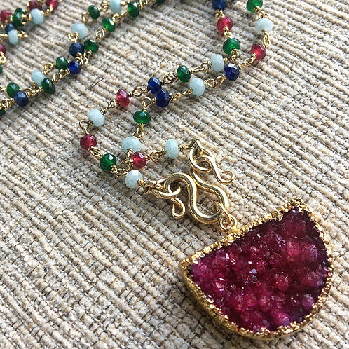 Emerald, Ruby and Sapphire Signature Necklace