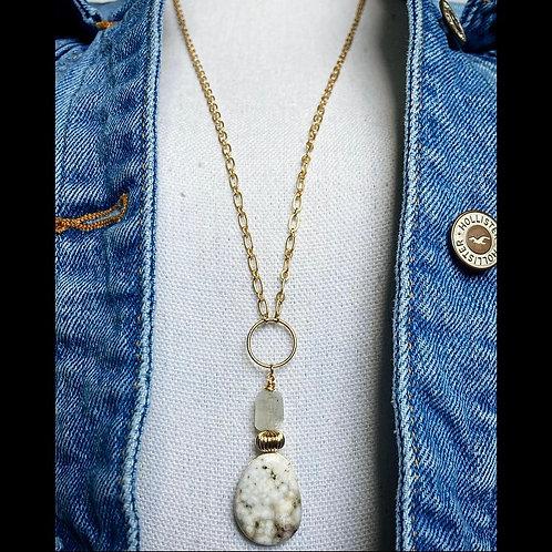 Jasper & Moonstone Necklace