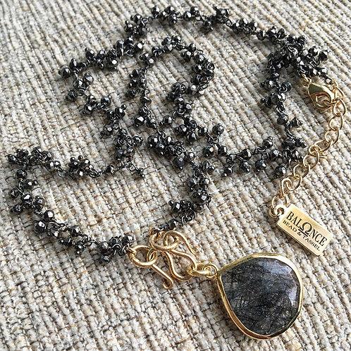 Pyrite & Rutile Quartz Signature Necklace