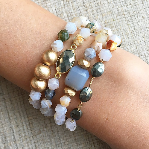 Bamboo Agate Neutral Stack