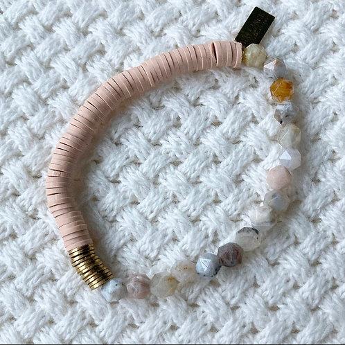 Light Rose & Agate Bracelet