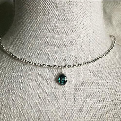 Pyrite Beaded Vintage Lourdes Necklace