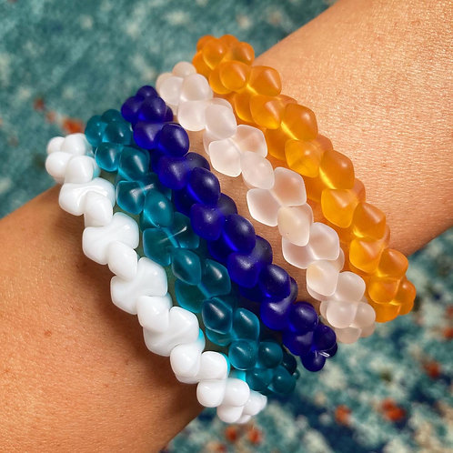 Interlocking Sea Glass Bracelet