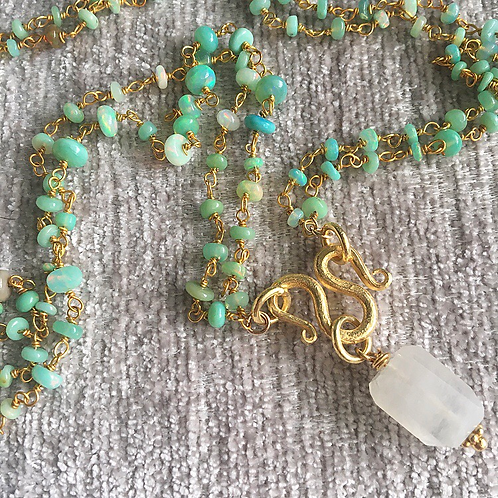 Peruvian Opal & Moonstone Necklace