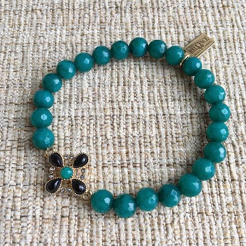 Emerald Jade & Onyx Bracelet