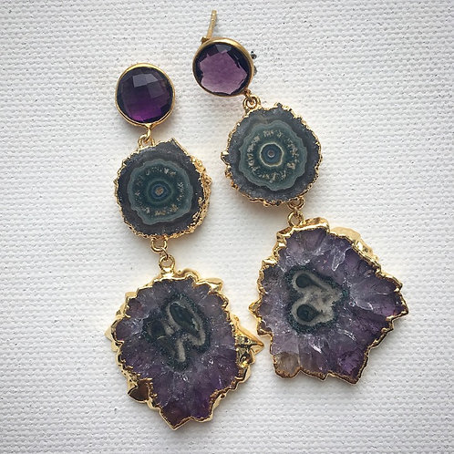 Amethyst Stalactite Earrings