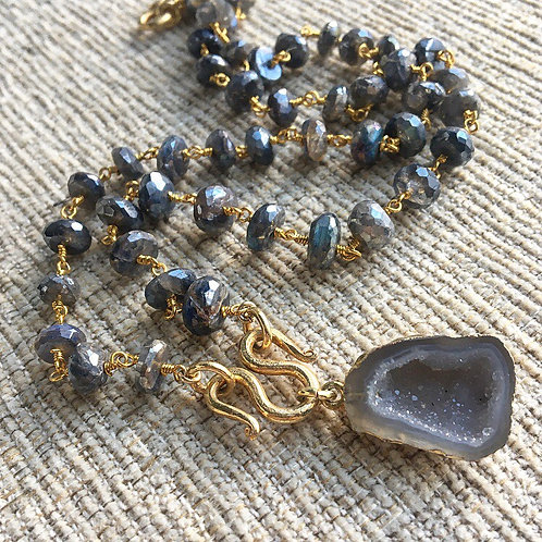 Labradorite & Druzy Signature Necklace