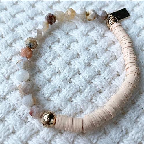 Light Nude & Agate Bracelet