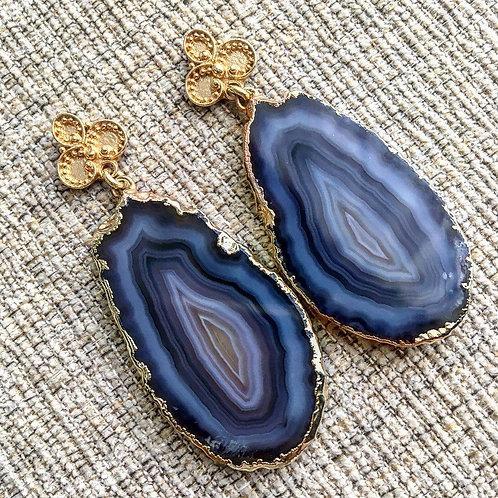 Bali Earrings in Black Onyx